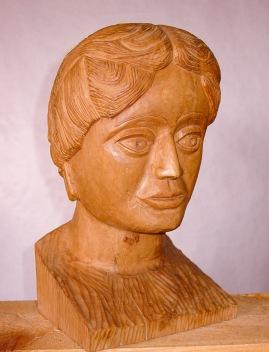 Busto de Afrodita. Plátano. 22x22x40. 1987