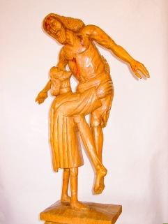 Cristo del Priorato. Pino. 33x22x96cm.1994.