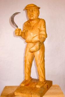 Segador. Pino. 20x27x66 cm. 1990