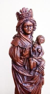 Virgen Blanca (detalle).